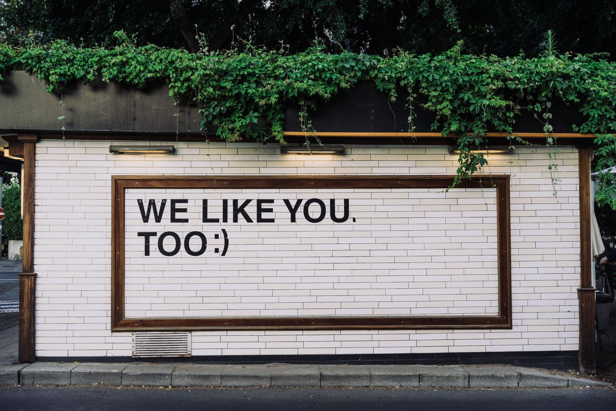 mur dans une rue avec une citation