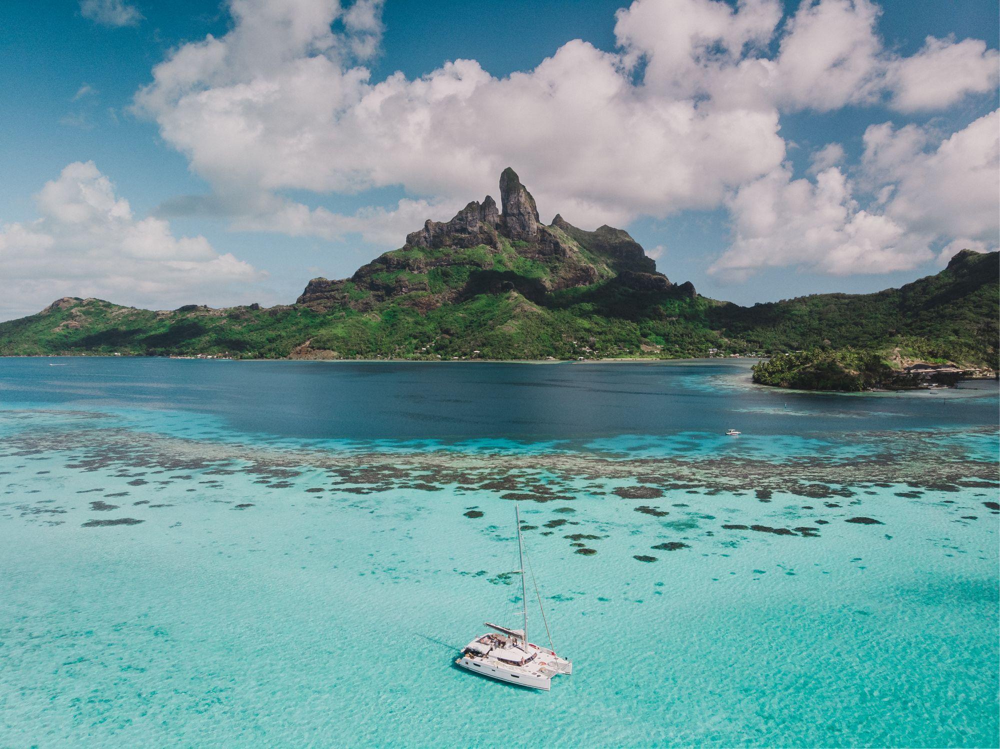 vue sur l'île de Moorea en Polynésie Française