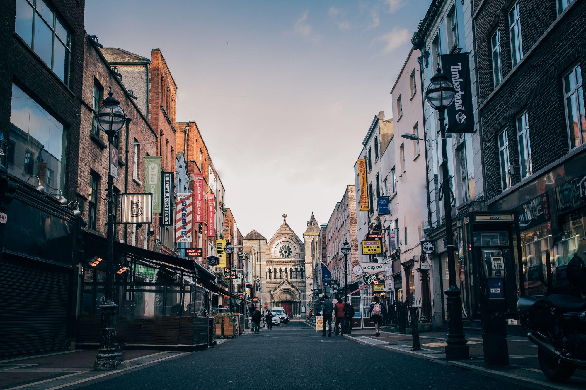 rue Anne Street à Dublin en Irlande